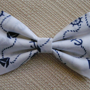 HAIR BOW-Nautical,lovely little Bows Hair bow, Hair bows for girls, cute hair bows out of cotton fabric, bows for weddings