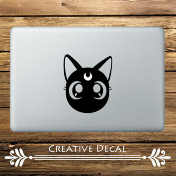 "Sailor Moon Cat  Anime Vinyl Laptop Sticker for Apple Macbook Decal Pro Air Retina 11"" 12 13"" 15"" Notebook Mac Computer Stickers"