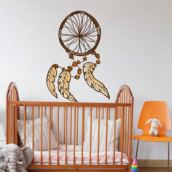 Dreamcatcher Wall Decal - Dreamcatcher Wall Sticker - Feathers Dreamcatcher Wall Art - Dream Catcher Kids Wall Decor - Dream Catcher mc156