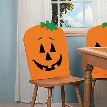 Decoration Eco-friendly Ghost Halloween Trick Or Treat Pumpkin Chair Cover Halloween Room Decoration Festival Supplies