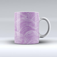 The Purple Brush Strokes ink-Fuzed Ceramic Coffee Mug