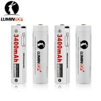 LUMINTOP 4PCS LM34C Flashlight USB Rechargeable 18650 3400mAh 3.7V