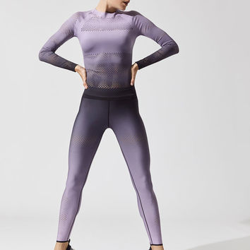 Velocity Ultramesh Long Sleeve Tees in Lilac