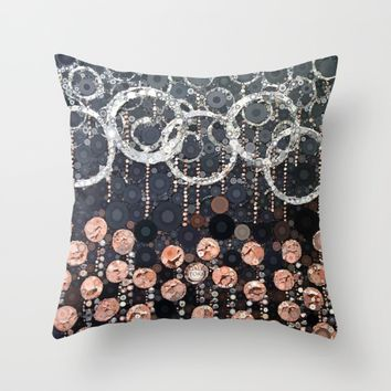 :: Peach Mimosa :: Throw Pillow by :: GaleStorm Artworks ::