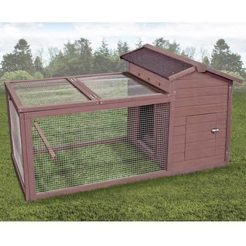 "Ware Hen Hut with Yard Chicken Coop 59""x30x31"