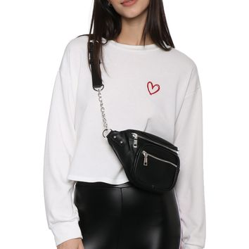 Gab & Kate Embroidered Heart Pullover