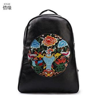 University College Backpack Lady New Embroidery Unique Nice School Bag Ethinic Travel Rucksack Shoulder Bags Women National Style  Students AT_63_4