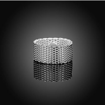 925 Silver Mesh Weave Band Ring