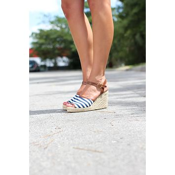 Nautical Espadrille Wedges