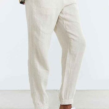 Shades Of Grey By Micah Cohen Linen Jogger Pant- Neutral