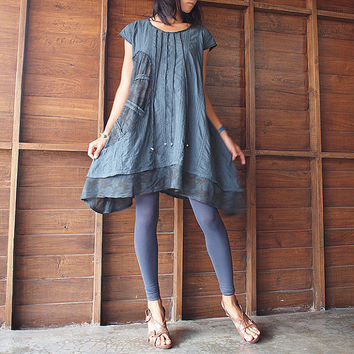 Artistic Collection...Sun and rain pleated dress (S-L)