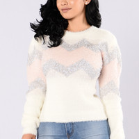 Glitzy Sweater - Ivory