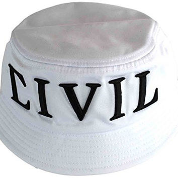 Civil Clothing Regime Bucket Hat Cap White 7fdba856161a