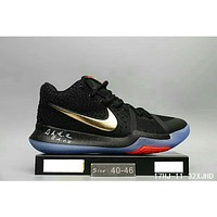 NIKE ID Kyrie 3 Owen 3 generation fashion shoes F-HAOXIE-ADXJ  Black