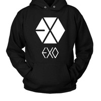 DCCK7H3 Exo Logo (2) Hoodie Two Sided