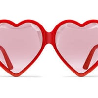 Gucci Specialized fit heart-frame acetate sunglasses