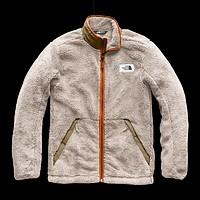 Men's Campshire Full Zip Sherpa Fleece in Granite Bluff Tan & Beech Green by The North Face