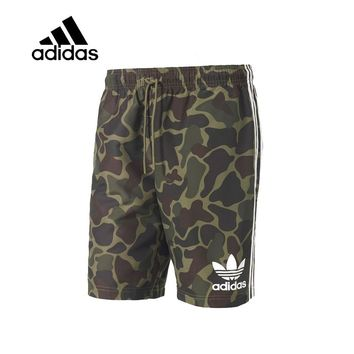 Original New Arrival Authentic Adidas Men Trainning Exercise Running Shorts Camo Leisure Sportswear Breathable Quick Dry BK0012
