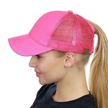 Trendy Winter Jacket Black Rebel CC Ponytail Baseball Cap Mesh Snapback Trucker Caps For Women Female Messy Bun Summer Caps  Fashion Girl Hip Hop Hat AT_92_12