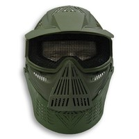 Airsoft Safety Face Mask MESH OD GREEN Pforce 2604M