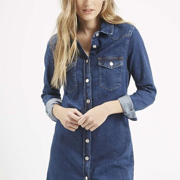 MOTO Denim Western Dress - Topshop