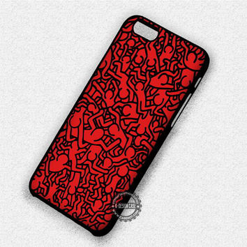 Keith Haring Art - iPhone 7 6 Plus 5c 5s SE Cases & Covers