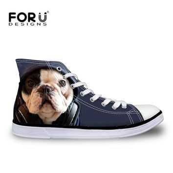 forudesigns-fashion-women-casual-3d-animal-french-bulldog-frenchie-printed-shoes-femal number 1