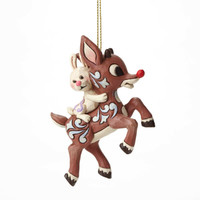 Enesco Jim Shore Rudolph Traditions Rudolph Carrying Bunny H/O NIB 4047945