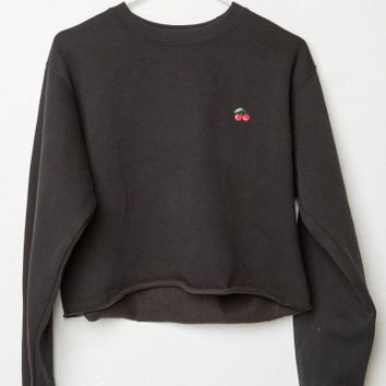 NANCY CHERRIES EMBROIDERY SWEATSHIRT
