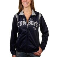 Women's Dallas Cowboys Navy Blue Primetime Track Jacket
