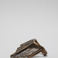TOTOKAELO - All For The Mountain - Drip Crown Ring - Bronze