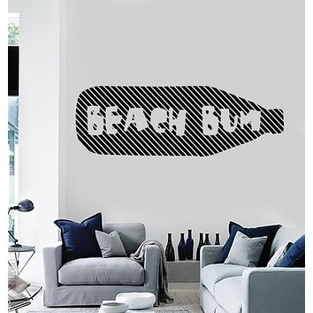 Wall Vinyl Decal Beach House Labels Funny Wine Bottle Stickers (n1060)