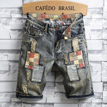 Ripped Holes Summer Denim Shorts Jeans [3444981989469]