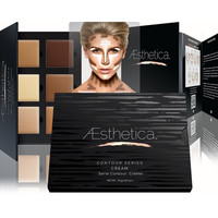 Aesthetica Cosmetics Cream Contour and Highlighting Makeup Kit - Contouring Foundation / Concealer Palette - Vegan, Cruelty Free & Hypoallergenic
