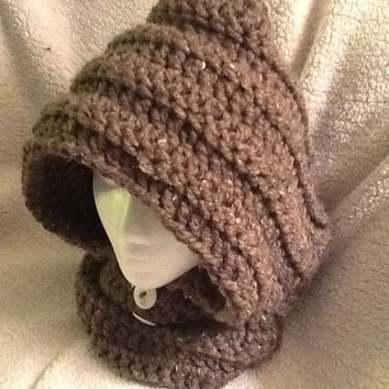 Crochet hooded cowl - all sizes (newborn to adult sizes) - made to order.