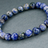 Blue and White Volcano Stone Fashion Bracelet