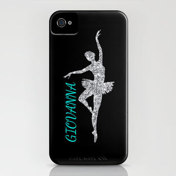 Personalized iPhone 6 Case, iPhone 6 Plus Phone Case, for Her, Glitter Dancer, 3D iPhone Case, Protective Case