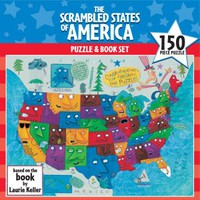 The Scrambled States of America™ Puzzle and Book Set