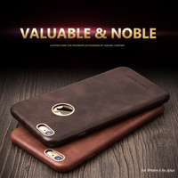 For iphone 6 6s case QIALINO Luxury Calf Skin Genuine Leather Case for iphone6/6s plus cover 4.7/5.5inch Ultra Slim Phone Case