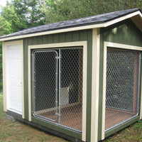 8x12 k9 Kennel with 4x8 dog house and 8x8 kennel