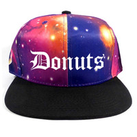 Donuts Fruitition Black Snapback Hat