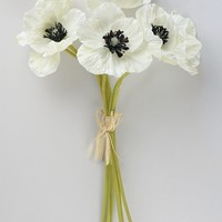 """Real Touch Poppy Bundle in White - 12"""" Tall"""