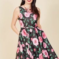 Wishing and Wowing Midi Dress in Roses