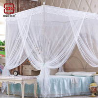 3 Door 4 Corner Post Bed Canopy Mosquito Net Full Queen King Size Netting Bedding