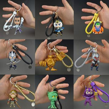 LOL League of Legends figure Monkey King Keychain Decoration Model Toy action-figure Game Heros anime party decor Creative Gift