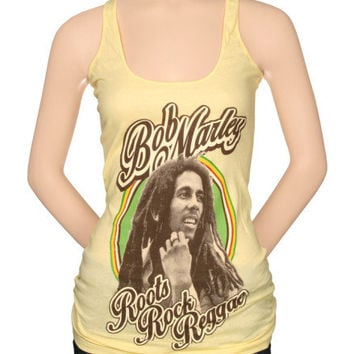 Juniors: Bob Marley - RRR Racer Back Tank T-shirts at AllPosters.com