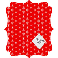 Caroline Okun Ruby Jingle Quatrefoil Magnet Board