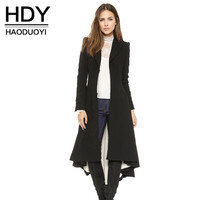 HDY Haoduoyi Dove tail Victoria office lady long coats Pleated slim fashions women trench outwears for Women Outwear-in Trench from Women's Clothing & Accessories on Aliexpress.com | Alibaba Group