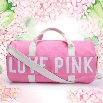 PEAPON Love Pink Victoria's Secret Print Sport Gym Satchel Travel Luggage Bag