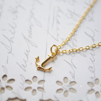 Summer Necklace Anchor Necklace  Itsy Bitsy by littlejarofhearts